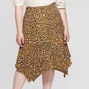 Who what wear cheetah slip skirt sz 10 new no tag